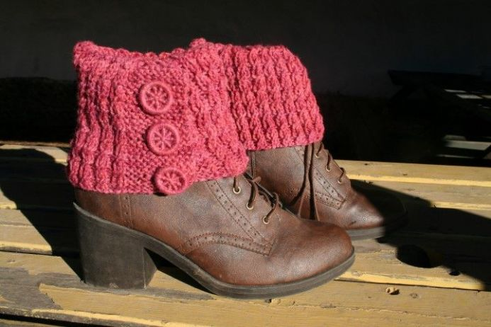 PDF Castlerigg Boot Cuffs, Knitting Pattern